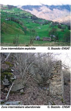 Zone intermédiaire exploitée et zone intermédiaire abandonnée