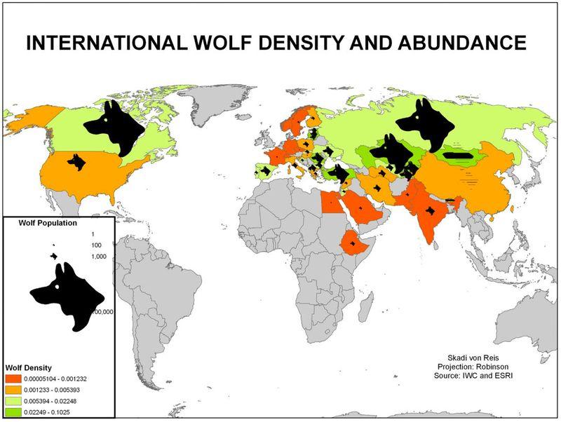 Loups dans le monde