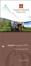 Appel à projet 2013 du Conseil général des Hautes-Alpes (CG05) : Réouverture des milieux