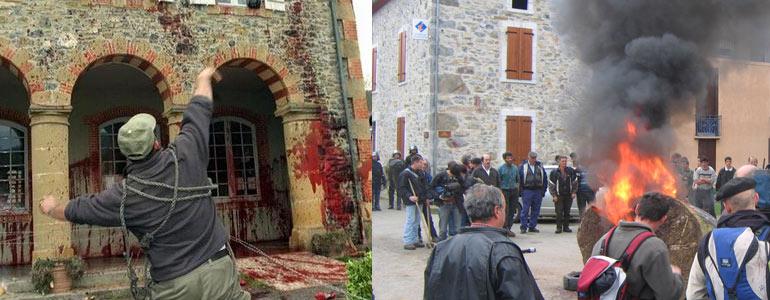 Le saccage du village d'Arbas, 1er avril 2006: un exemple de cet ultrapastoralisme à la française