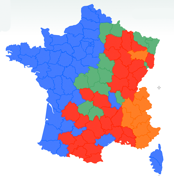 Carte de dispersion du loup