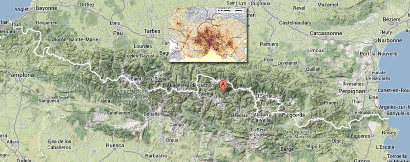 Comparaison de la densité des ours en Slovénie et dans les Pyrénées