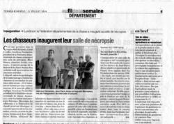 Terres d'Ariège du 11 juillet 2014 Salle de nécropsie