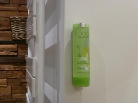 Les doseurs de savon rechargeables de la Couette de l'Ours portent le logo EU-Ecolabel